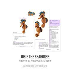 Josie the Seahorse amigurumi pattern - Amigurumipatterns.net