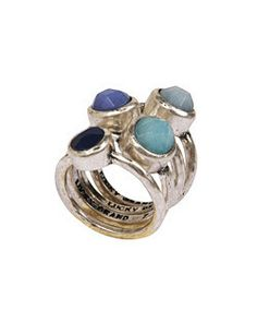 Gemstrone Stacked Ring | PlushCloth