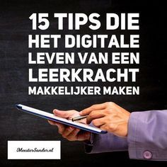 15 tips die het digitale leven van een leerkracht makkelijker maken Professional Development For Teachers, Education And Development, Primary Education, Education Quotes For Teachers, Teacher Quotes, Primary School, Classroom Tools, Google Classroom, Teach Like A Champion