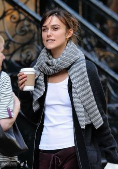 Keira Knightley on the set of Last Night
