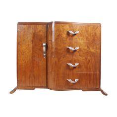 Art Deco Walnut Side Cabinet c1930