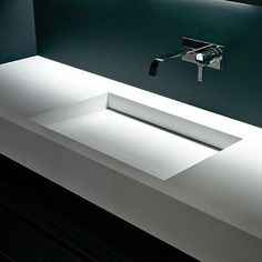 Bespoke Corian Vanity Single/double With Hidden Waste