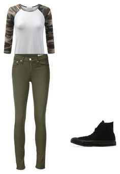 """""""Camo"""" by cottoncandy03 on Polyvore featuring rag & bone/JEAN and Converse"""