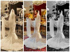 Noiva linda com vestido comprado em Nova York - Juliana, Inesquecível Casamento.