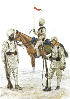 Sepoy, 1st Sikh Infantry (Punjab Frontier Force) - This regiment, raised in 1846, was senior among the infantry regiments of the Punjab Frontier Force, that part of the Indian Army which had a special responsibility for keeping the peace on the North-West Frontier. It was one of the first Indian regiments to leave for China in 1900 and, with the 7th Rajputs, was the first of the British contingent to enter the besieged Legations at Peking.