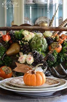 vegetable fall/thanksgiving centerpiece
