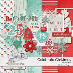 Celebrate Christmas mini kit freebie from Lorie M Designs