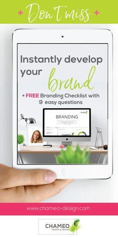 **How to instantly build your BRAND**, plus FREE Branding checklist with questions in English & German! For small business owners, entrepreneurs, or bloggers. Improve your logo, rebrand your blog, webside design presence, business cards, stationary, blog, letterhead, favicon, social media profiles, CI colors, company fonts, personal business identity, inspirational ideas, marketing and sales improvement....