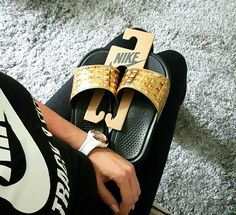 Nike Benassi JDI Ultra PRM Gold