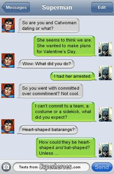 Text From Superheros