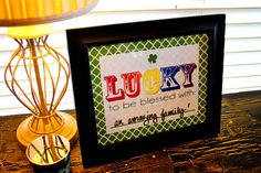 Dry Erase LUCKY Printable