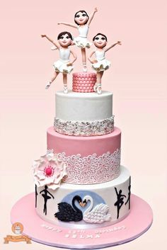 Swan ballet cake