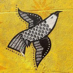 """Detail of @janajoana and @vitche1 work • São Paulo , Brasil"""