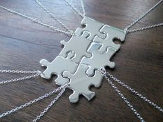 idea for friends necklace using Puzzle Pieces, good small group project