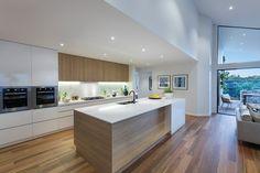 Dunedin 31 Kitchen - Contemporary Home Design - Bondi interior style Kitchen Lighting Design, Luxury Kitchen Design, Kitchen Room Design, Home Decor Kitchen, Interior Design Kitchen, Home Kitchens, Küchen Design, House Design, Modern Kitchen Interiors