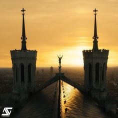 Lyon from Rooftop of Notre-Dame de Fourvière, France (HDR)  Facebook / Google+ / Instagram