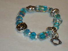 Murano lampwork blue bracelet