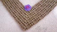 Вафельный реглан крючком Шахматка Crochet Edging Patterns, Crochet Cable, Crochet Necklace, Diy, Crochet Tutorials, Crochet Pouch, Vestidos, Crochet Designs, Patterns
