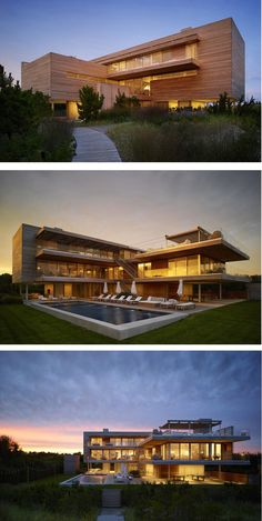 Stelle Lomont Rouhani Architects have designed the Ocean Deck House, an oceanfront property in Bridgehampton, New York.