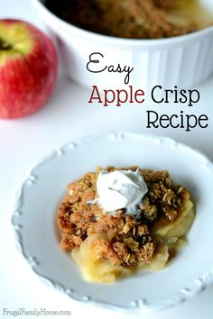 I love to get back to baking in the fall and with fall comes fresh crisp apples perfect for apple recipes. This apple recipe is one my family has made for years. It's a perfect balance of apples and crunchy topping. It's also an easy apple crisp recipe, taking only a 6 ingredients to make. It's a great recipe to kids to help make.