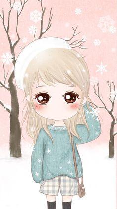 Cute winter n girl.