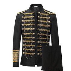 Men's+Prince+Royal+Costume+Luxury+Slim+Fit+Stylish+Suit+Blazer+Jacket+&+Trousers+Set+2-Piece #Suiting&Blazers