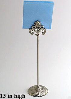 Very Elegant Brushed Nickel Fleur De Lis Table Number Holder Reminds Us Of Paris In The Spring 9 High Sets Two Only 29 95 Pinterest