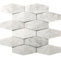 Emser WINTER FROST Winter Frost Natural Stone Marble Border Tile (Common: x Actual: x at Lowe's. Winter Frost embodies the crisp colors and textures of winter for a visually intriguing design. Frost-like white marble with considerable gray veining Fireplace Backsplash, Fireplace Facade, Kitchen Backsplash, Mosaic Wall Tiles, Marble Mosaic, Mosaics, Marble Polishing, Border Tiles, Thing 1