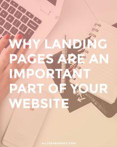 3 razones por las páginas de destino son una parte importante de su página web