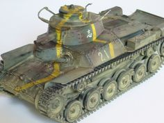 Japanese Type 97 Chi Ha Medium tank. Tamiya kit with added troop rack. Marcel Scuderi