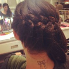 Lucy Hale's bow tattoo.