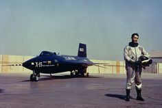 Albert Scott Crossfield with North American Aviation X-15 56-6670