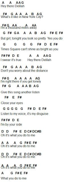 Flute Sheet Music: Hey There Delilah