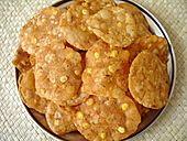 Andhra Snack - Pappu Chekkalu (Rice Crackers) - Indian Food Recipes
