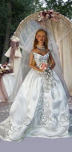 Wedding Doll, Wedding Bride, Wedding Gowns, Pretty Dolls, Beautiful Dolls, Bride Dolls, Divas, Sewing Tutorials, Fashion Dolls