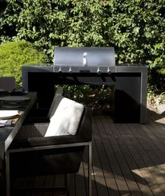 Caption this! Porsche Design X-Series 2 Barbeque - the perfect outdoor complement for your Poggenpohl kitchen #porschedesign #poggenpohl