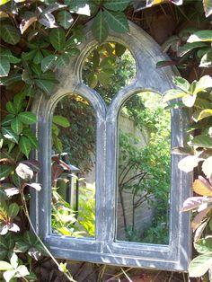Christmas Gardening Gifts Present - Gothic Garden Mirror - Gothic Garden, Victorian Gardens, Dream Garden, Garden Art, Garden Design, Back Gardens, Small Gardens, Outdoor Mirror, Garden Mirrors