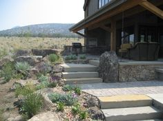 Central Oregon Gardens - contemporary - patio - other metro - Heart Springs Landscape Design, LLC Backyard Patio Designs, Yard Design, Patio Ideas, Yard Ideas, Landscaping Ideas, Small Garden Landscape, Landscape Design, Desert Landscape, Xeriscape Plants