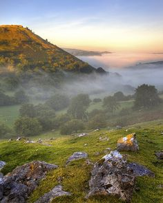 An early morning shot of Castell Dinas Bran ruins above Llangollen, Denbighshire and the Dee Valley. Wales.