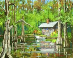Louisiana Swamp Paintings | On The Bayou Painting by Dianne Parks - On The Bayou Fine Art Prints ...