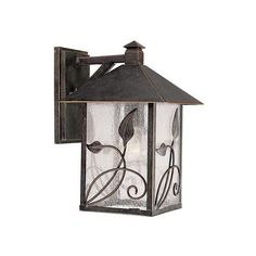 """French Garden 12 1/2"""" High Outdoor Wall Light ($120) ❤ liked on Polyvore featuring home, outdoors, outdoor lighting, outdoor yard lights, franklin iron works, french outdoor lighting and franklin iron works outdoor lighting"""