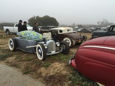 Awesome rods at Pismo Beach, For The Race of Gentlemen
