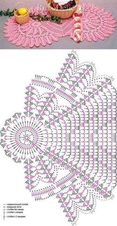 New crochet table runner flower doily patterns ideas Crochet Circle Pattern, Crochet Table Runner Pattern, Crochet Doily Diagram, Crochet Circles, Crochet Doily Patterns, Crochet Tablecloth, Crochet Chart, Crochet Motif, Crochet Designs