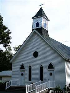 a southern baptist church. in the 17th & 18th centuries churches were built with 2 doors, 1 for men, 1 for women