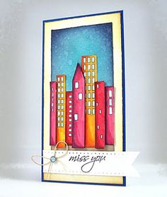 Beautiful cityscape card