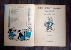 Brer Rabbit Stories retold by Phyllis Briggs from the original stories by Joel Chandler Harrisand illustrated by G.Higham...produced by Juvenile Productions Ltd. London 1950-1953.  A charming hard back book full of classic Brer Rabbit stories, with lots of semi coloured illustrations. Book measures. 10 by 7.2 and has 61 pages of lovely thick card like paper...these have slight age discolouration ,but are all clean and clearly readable.  Apart from the tear on the front cover, this book is in…