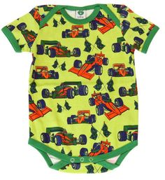 S/s Bodysuit - Racing cars by Smafolk