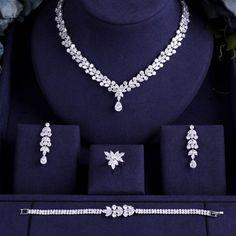 Bridal Zirconia Jewelry Sets For Women Party, Luxury CZ Crystal Wedding Jew. - Bridal Zirconia Jewelry Sets For Women Party, Luxury CZ Crystal Wedding Jewelry Sets – – - Fashion Necklace, Fashion Jewelry, Women Jewelry, Fancy Jewellery, Fine Jewelry, Bohemian Jewelry, Schmuck Design, Wedding Jewelry Sets, Luxury Jewelry