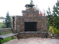 Outdoor Fireplace on Patio | Archadeck Outdoor Living