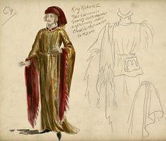 Richard II His Majesty's Theatre, 1902 Costumes designed by Percy Anderson  Percy Anderson (1851-1928) Costume design for Richard II, 1902 Herbert Beerbohm Tree as Richard II